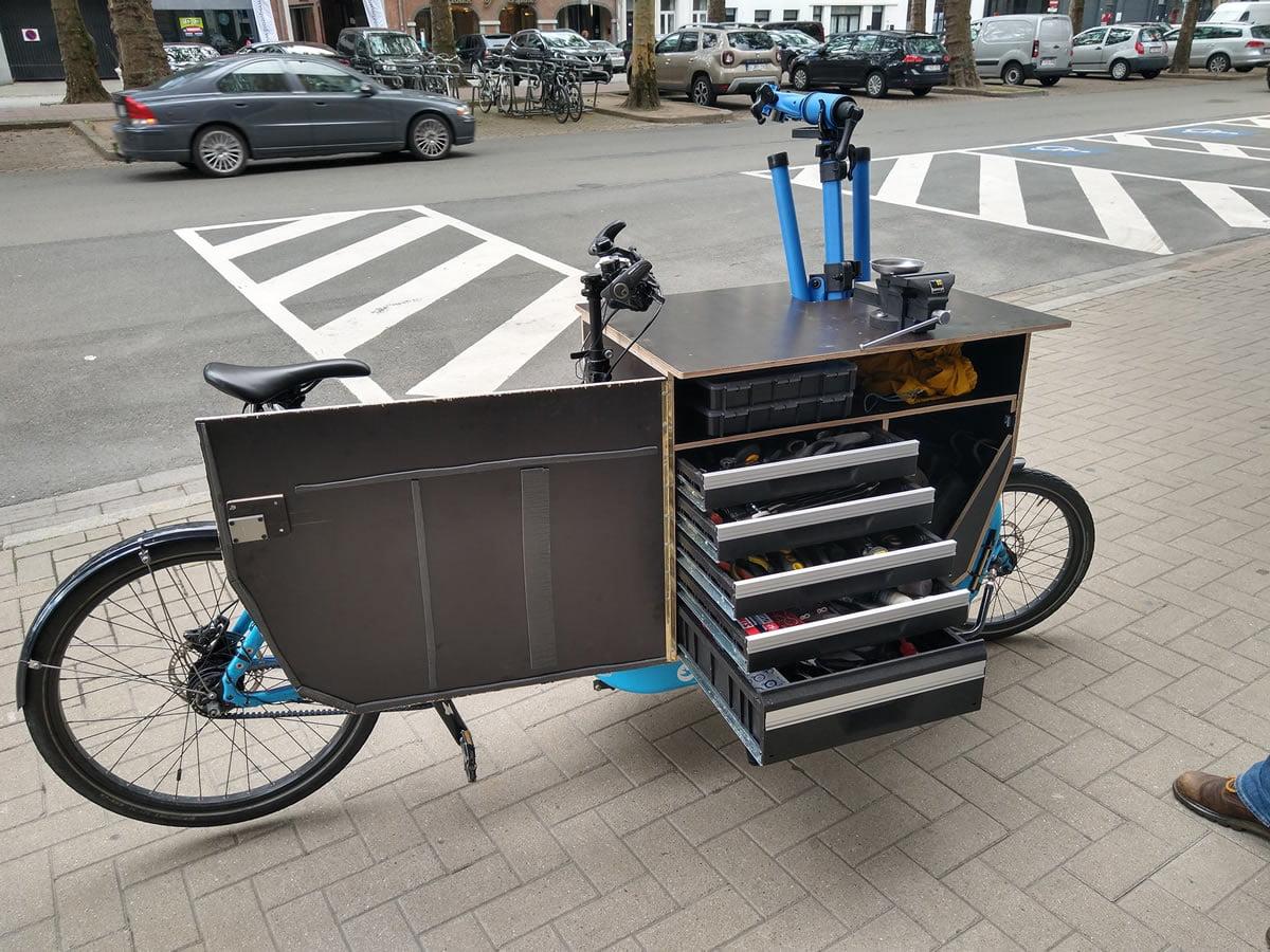 Cargo bike tipo taller movil