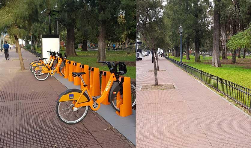 Foto propia de Bicivilizados.org. Plaza Arenales Villa Devoto 2019-2020
