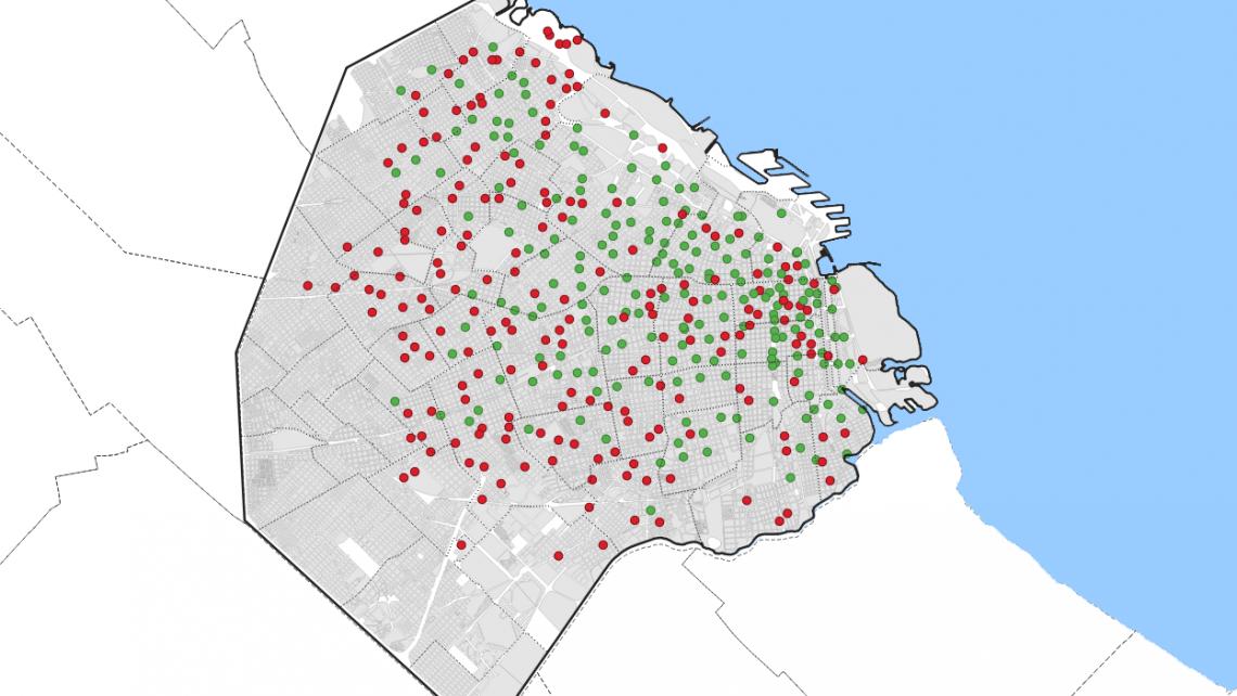 mapa estaciones retiradas ecobici